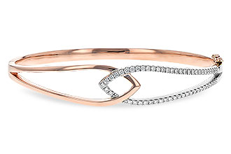 B235-44263: BANGLE BRACELET .50 TW (ROSE & WG)
